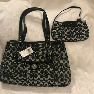 Coach purse and Matching wristlet NWT